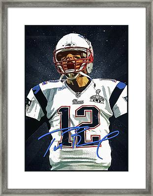 Tom Brady 3 Framed Print