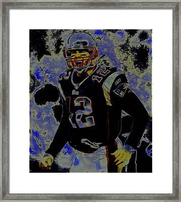 Tom Brady 3c Framed Print by Brian Reaves