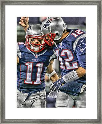 Tom Brady Art 1 Framed Print by Joe Hamilton