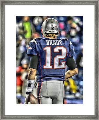 Tom Brady Art 2 Framed Print