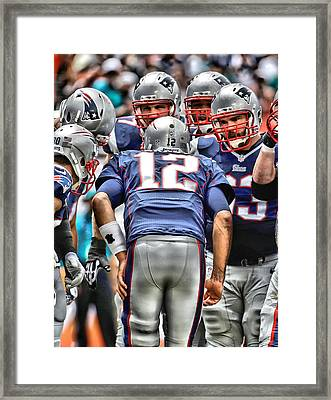 Tom Brady Art 3 Framed Print