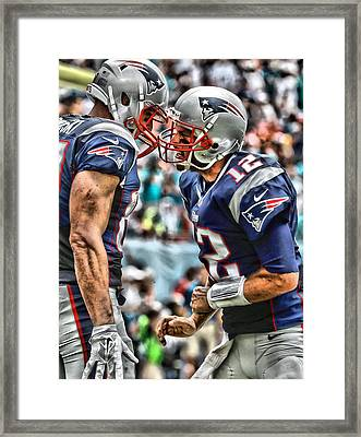 Tom Brady Art 4 Framed Print