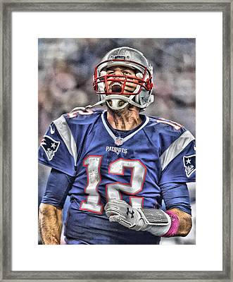Tom Brady Art 5 Framed Print by Joe Hamilton