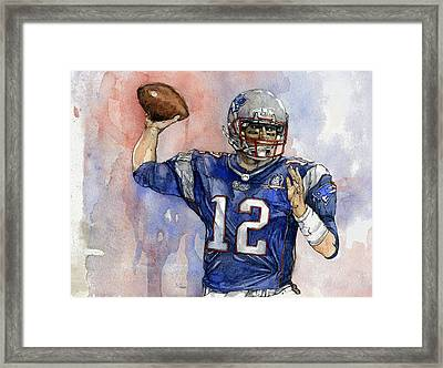 Tom Brady Framed Print by Michael  Pattison