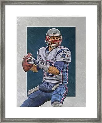 Tom Brady New England Patriots Art Framed Print by Joe Hamilton