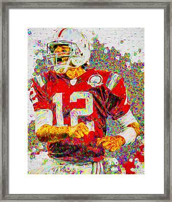 Tom Brady New England Patriots Football Nfl Painting Digitally Framed Print
