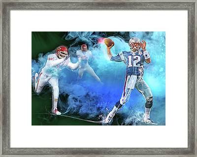 Tom Brady New England Patriots Framed Print by Mal Bray