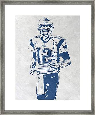 Tom Brady New England Patriots Pixel Art 2 Framed Print