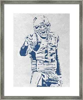 Tom Brady New England Patriots Pixel Art 3 Framed Print