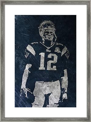Tom Brady Patriots 4 Framed Print by Joe Hamilton