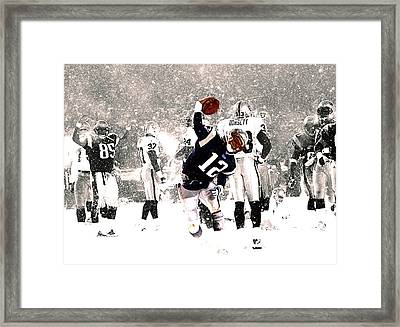 Tom Brady Touchdown Spike Framed Print