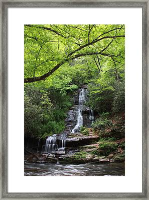 Tom Branch Falls - Gsmnp Framed Print