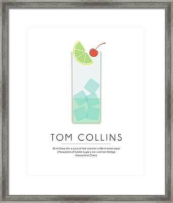 Tom Collins Classic Cocktail Minimalist Print Framed Print