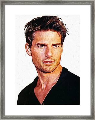 Tom Cruise Framed Print by Iguanna Espinosa