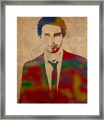 Tom Cruise Watercolor Portrait Framed Print