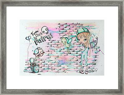 Tom Dick And Fairy Framed Print