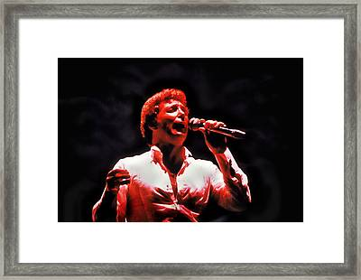 Tom Jones In Concert Framed Print by Anthony Dezenzio
