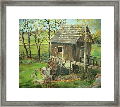 Tom Lott's Mill In Georgia Framed Print