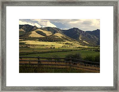 Tom Miner Vista Framed Print