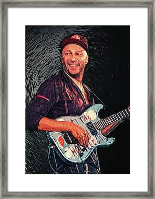 Tom Morello Framed Print by Taylan Apukovska