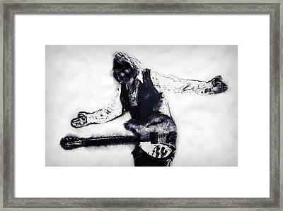 Tom Petty - 16 Framed Print by Andrea Mazzocchetti