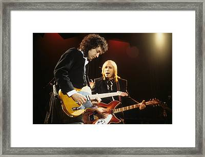 Tom Petty And Mike Campbell Framed Print
