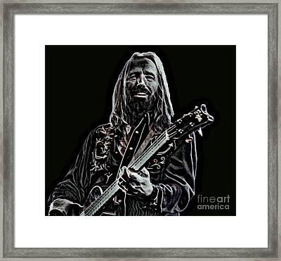 Tom Petty Digital Drawing  Framed Print