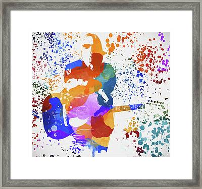 Tom Petty Paint Splatter Framed Print
