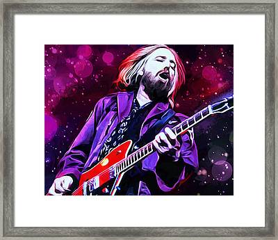 Tom Petty Painting Framed Print