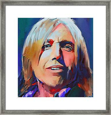 Tom Petty Tribute Portrait 2 Framed Print