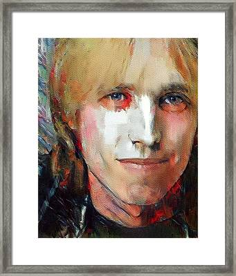 Tom Petty Tribute Portrait 3 Framed Print