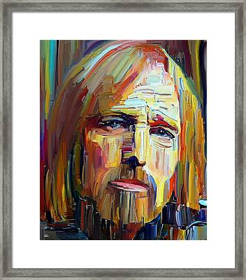 Tom Petty Tribute Portrait 4 Framed Print