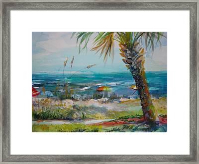 Tom Renick Park Ormond Beach Florida Framed Print by Marilyn Masters