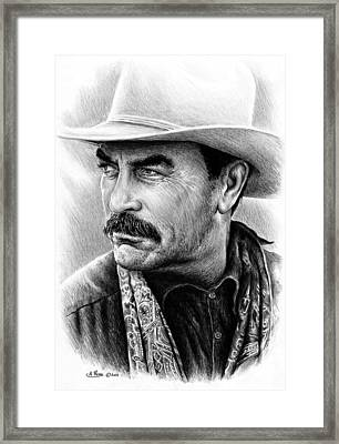 Tom Selleck As Monty Walsh Framed Print by Andrew Read