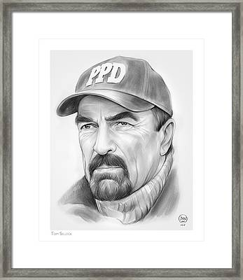 Tom Selleck Framed Print by Greg Joens