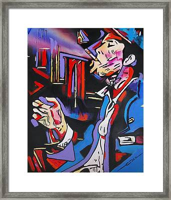 Framed Print featuring the painting Tom Traubert's Blues by Eric Dee