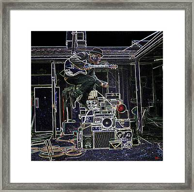 Tom Waits Jamming Framed Print