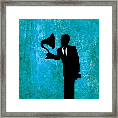 Tom Waits Framed Print by Janina Aberg