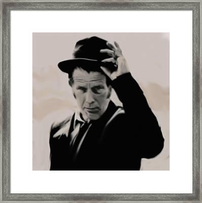 Tom Waits Framed Print by Jeff DOttavio