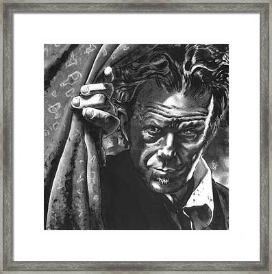 Tom Waits Framed Print by Ken Meyer