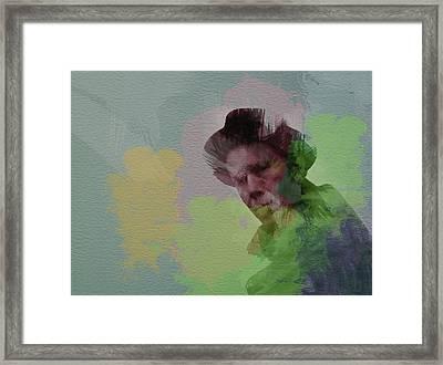 Tom Waits Framed Print by Naxart Studio