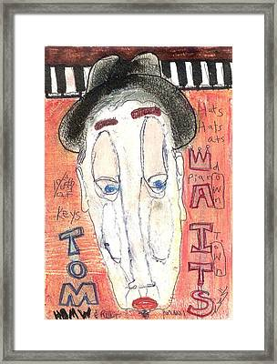 Tom Waits Framed Print by Robert Wolverton Jr