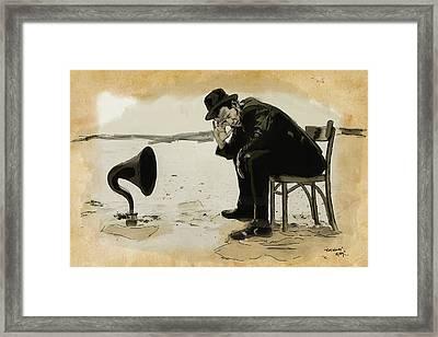 Tom Waits Framed Print by Sean King