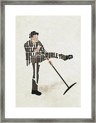 Framed Print featuring the digital art Tom Waits Typography Art by Inspirowl Design