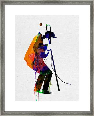Tom Watercolor Framed Print by Naxart Studio