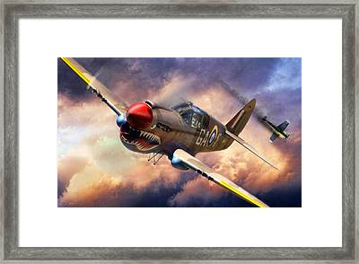 Tomahawk Chop Framed Print by Peter Chilelli