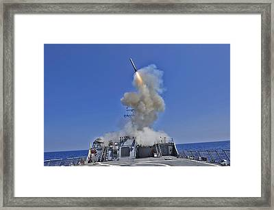Tomahawk Cruise Missile Launched Framed Print