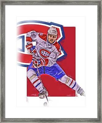 Tomas Plekanec Montreal Canadiens Oil Art Framed Print by Joe Hamilton