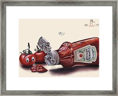 Tomato And Ketchup Framed Print