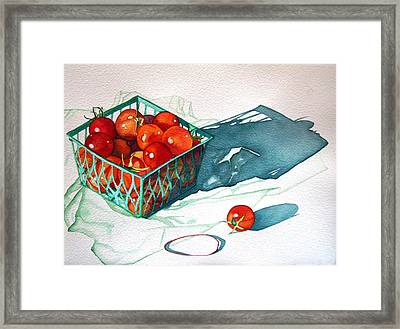 Tomato Basket Framed Print by Gail Zavala